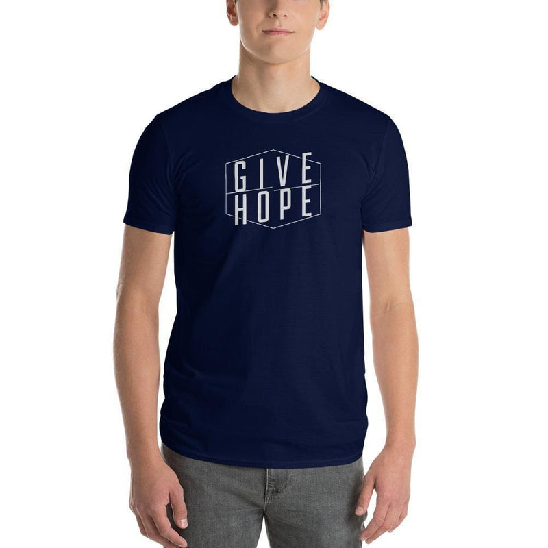 Mens Give Hope T-Shirt - S / Navy - T-Shirts
