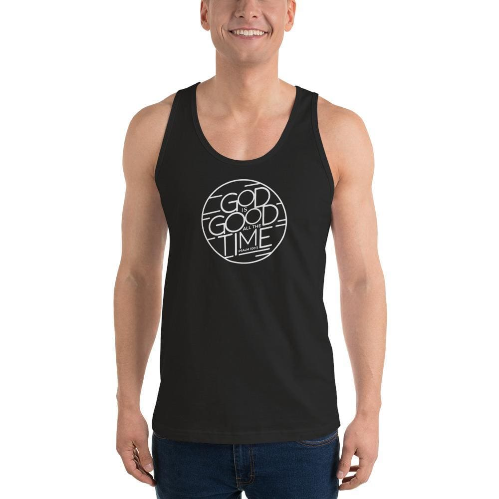 Mens God is Good All the Time Tank Top - XS / Black - Tank Tops