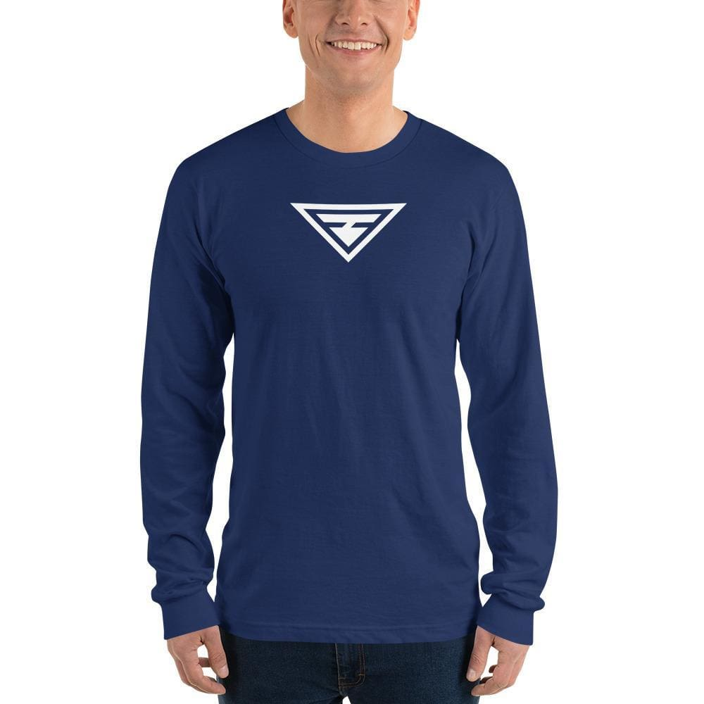 Load image into Gallery viewer, Mens Hero Long Sleeve T-Shirt - S / Navy - T-Shirts