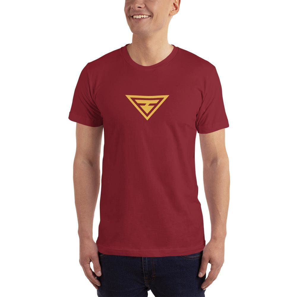 Mens Hero Short-Sleeve T-Shirt (Yellow Print) - XS / Cranberry - T-Shirts