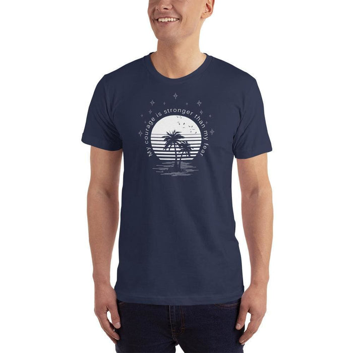 Mens My Courage is Stronger than My Fear T-Shirt - S / Navy - T-Shirts
