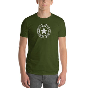 Mens Never Give Up Without a Fight T-Shirt - S / City Green - T-Shirts