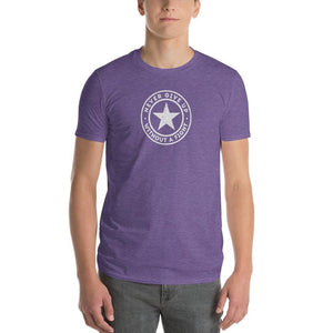 Mens Never Give Up Without a Fight T-Shirt - S / Heather Purple - T-Shirts