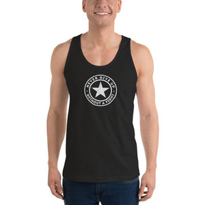 Mens Never Give Up Without a Fight Tank Top - XS / Black - Tank Tops