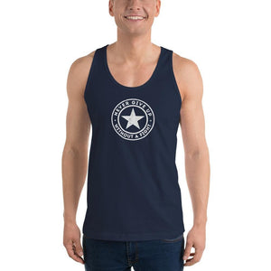 Mens Never Give Up Without a Fight Tank Top - XS / Navy - Tank Tops