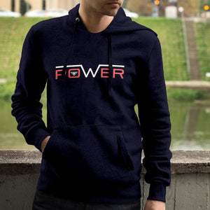 Mens Power Hooded Sweatshirt - Sweatshirts