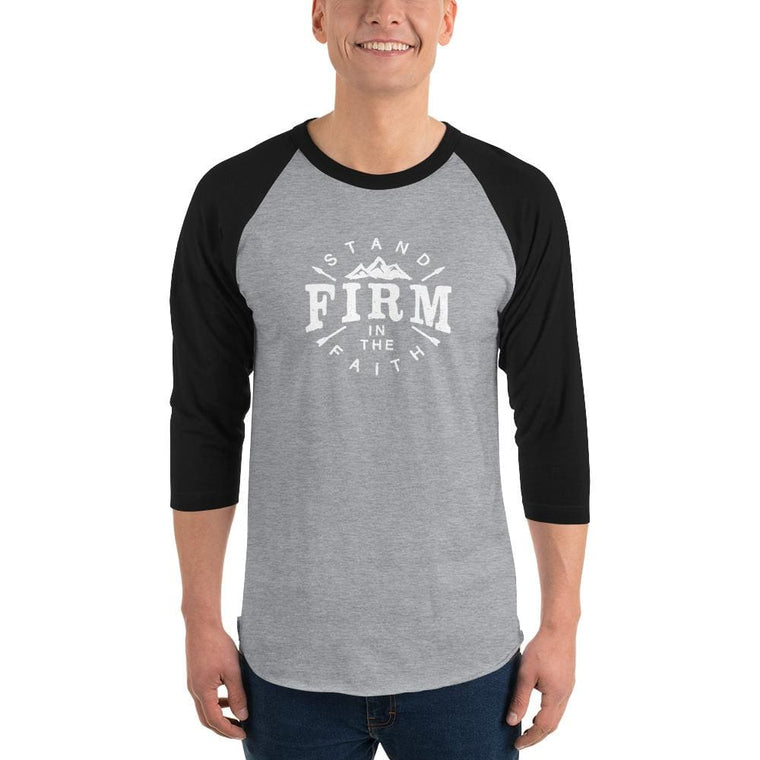 Men's Stand Firm in the Faith 3/4 Sleeve Raglan T-Shirt