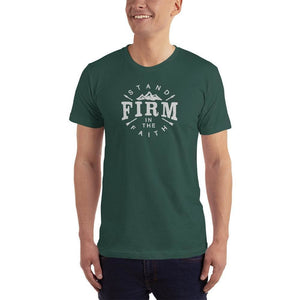 Mens Stand Firm in the Faith Christian T-Shirt - S / Forest - T-Shirts