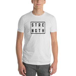 Mens Strength Square T-Shirt - 2XL / White - T-Shirts