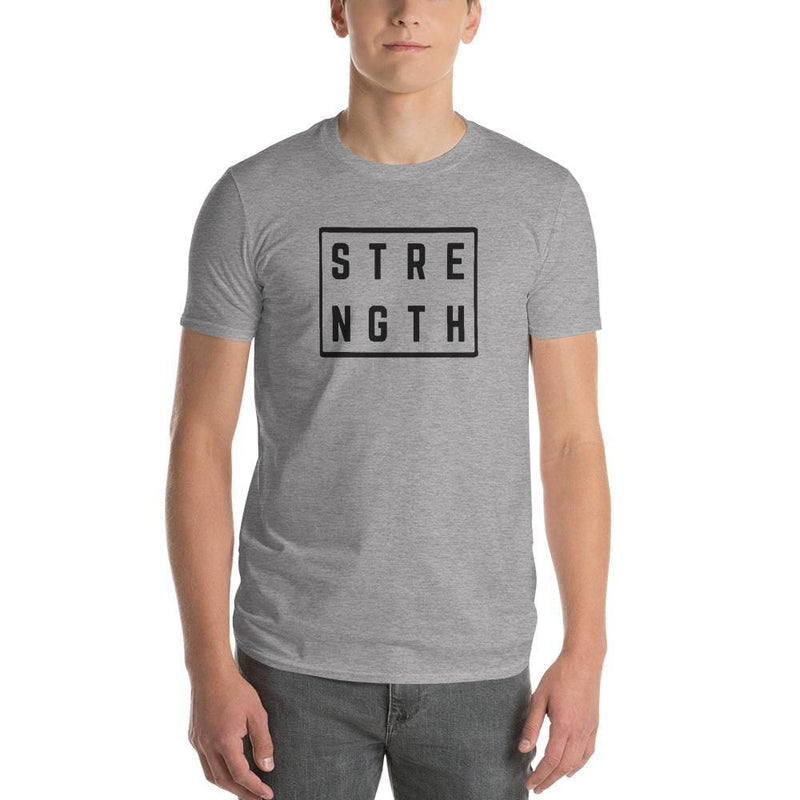 Mens Strength Square T-Shirt - S / Heather Grey - T-Shirts