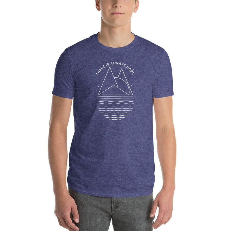 Mens There is Always Hope T-Shirt - S / Heather Blue - T-Shirts