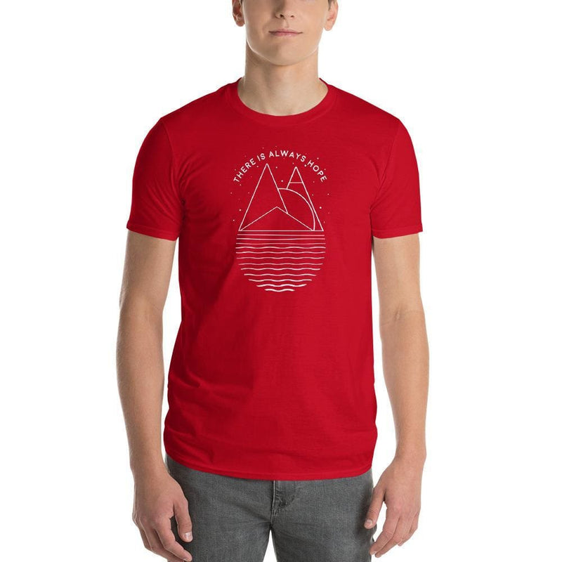 Mens There is Always Hope T-Shirt - S / Red - T-Shirts