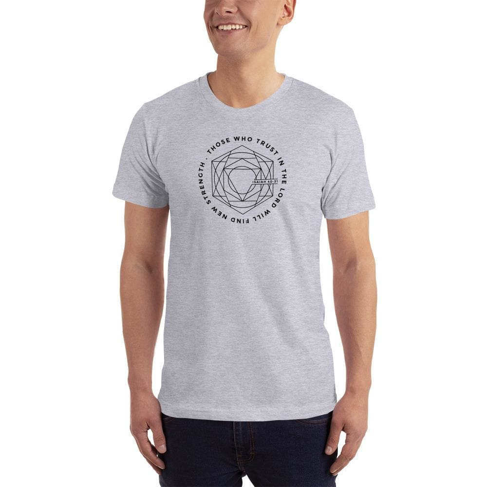 Mens Those Who Trust in the Lord Will Find New Strength Christian T-Shirt - S / Heather Grey - T-Shirts