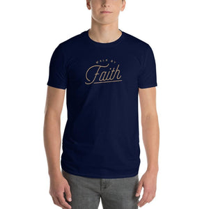 Mens Walk by Faith Christian T-Shirt - S / Navy - T-Shirts