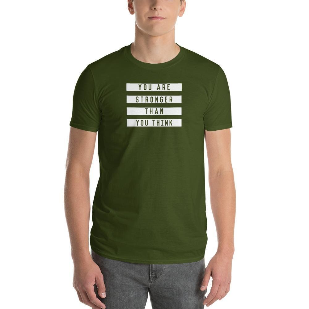 Load image into Gallery viewer, Mens You are Stronger than You Think T-Shirt - S / City Green - T-Shirts