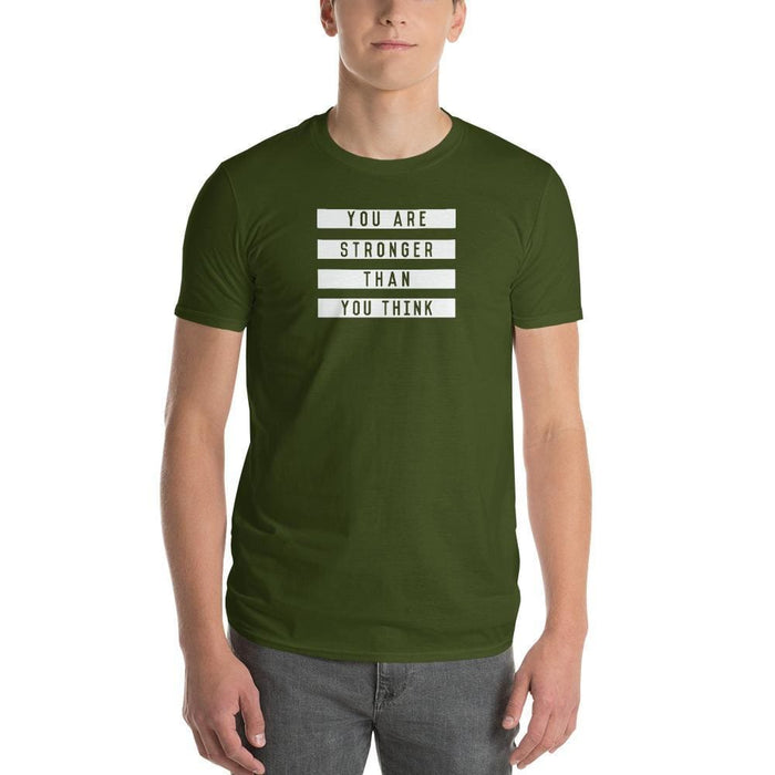 Mens You are Stronger than You Think T-Shirt - S / City Green - T-Shirts