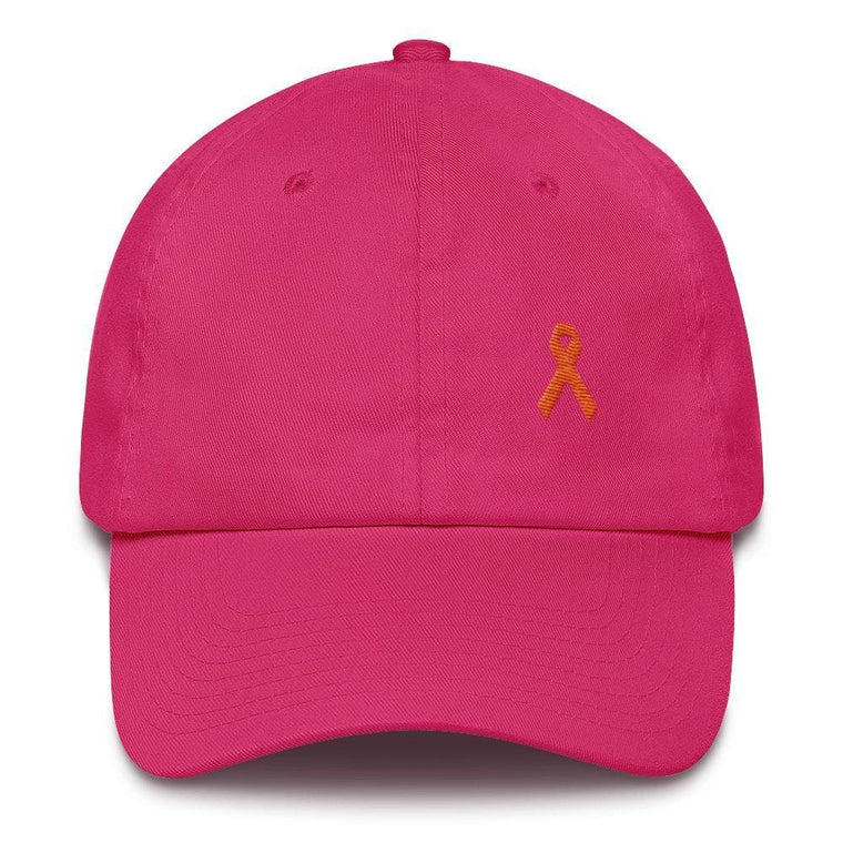 MS Awareness Dad Hat with Orange Ribbon
