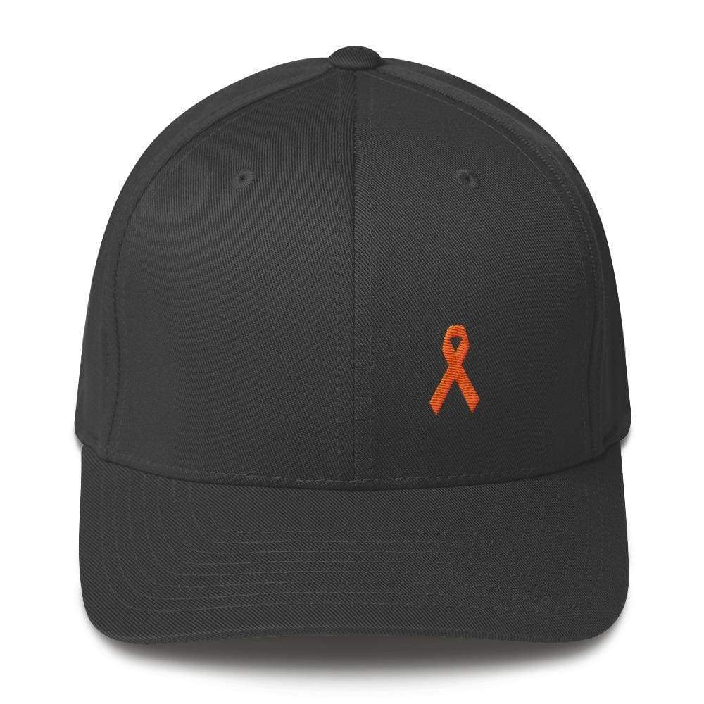 Ms Awareness Fitted Baseball Hat With Flexfit - S/m / Dark Grey - Hats