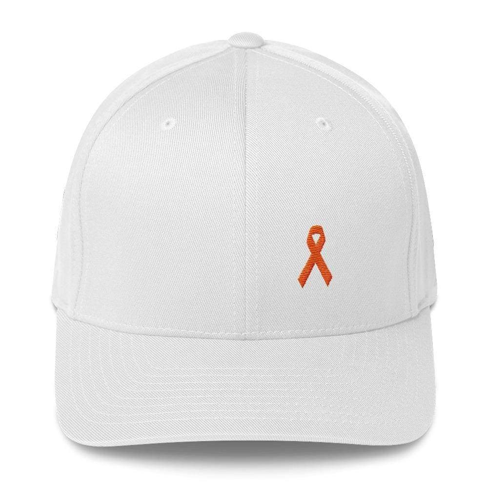 Ms Awareness Fitted Baseball Hat With Flexfit - S/m / White - Hats