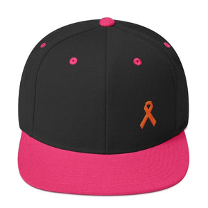 MS Awareness Flat Brim Snapback Hat - One-size / Black/ Neon Pink - Hats