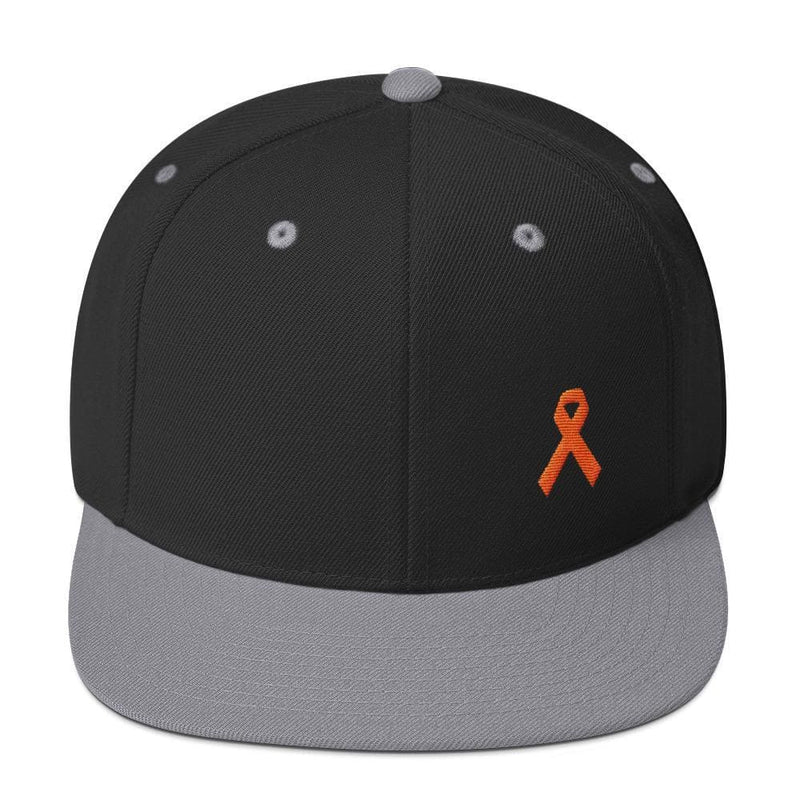 MS Awareness Flat Brim Snapback Hat - One-size / Black/ Silver - Hats