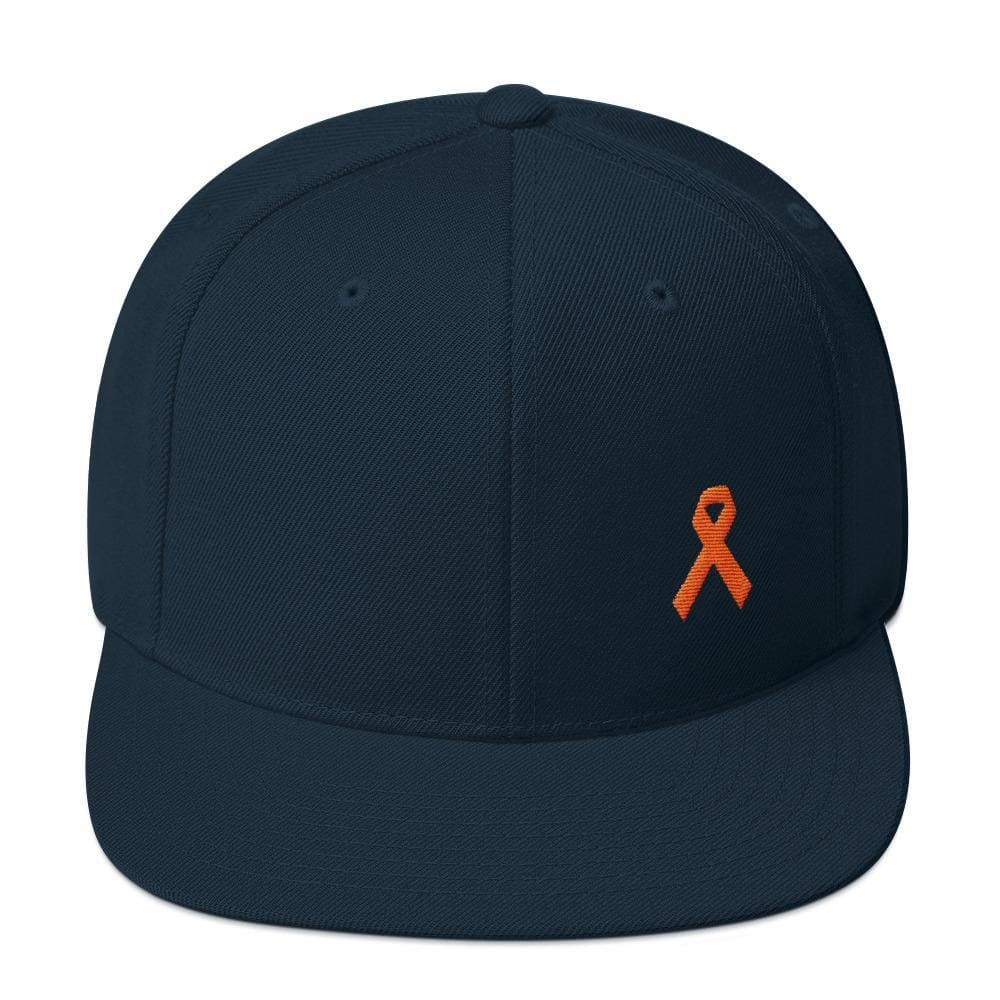 MS Awareness Flat Brim Snapback Hat - One-size / Dark Navy - Hats
