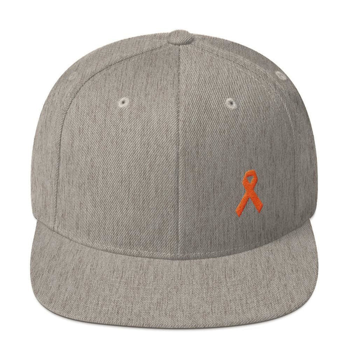 MS Awareness Flat Brim Snapback Hat - One-size / Heather Grey - Hats