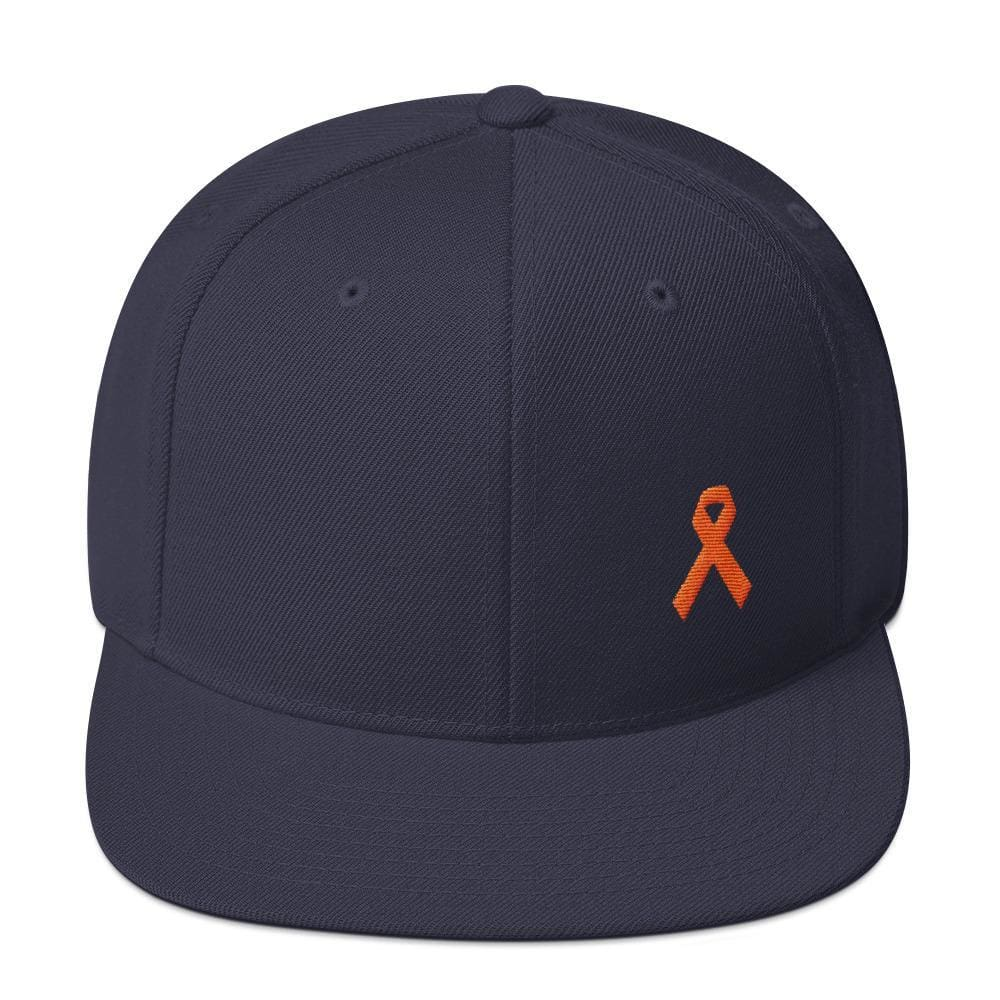 MS Awareness Flat Brim Snapback Hat - One-size / Navy - Hats