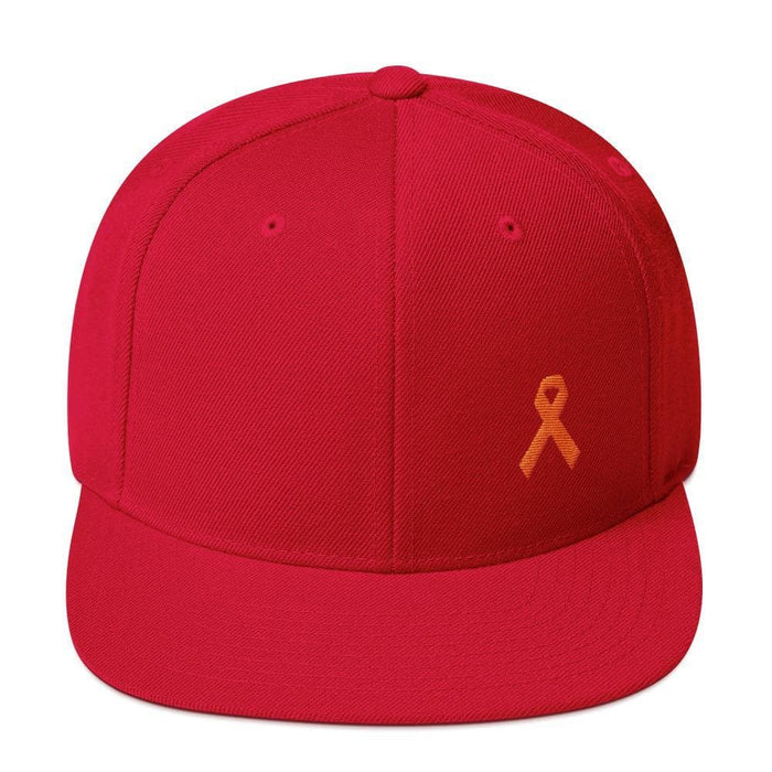 MS Awareness Flat Brim Snapback Hat - One-size / Red - Hats