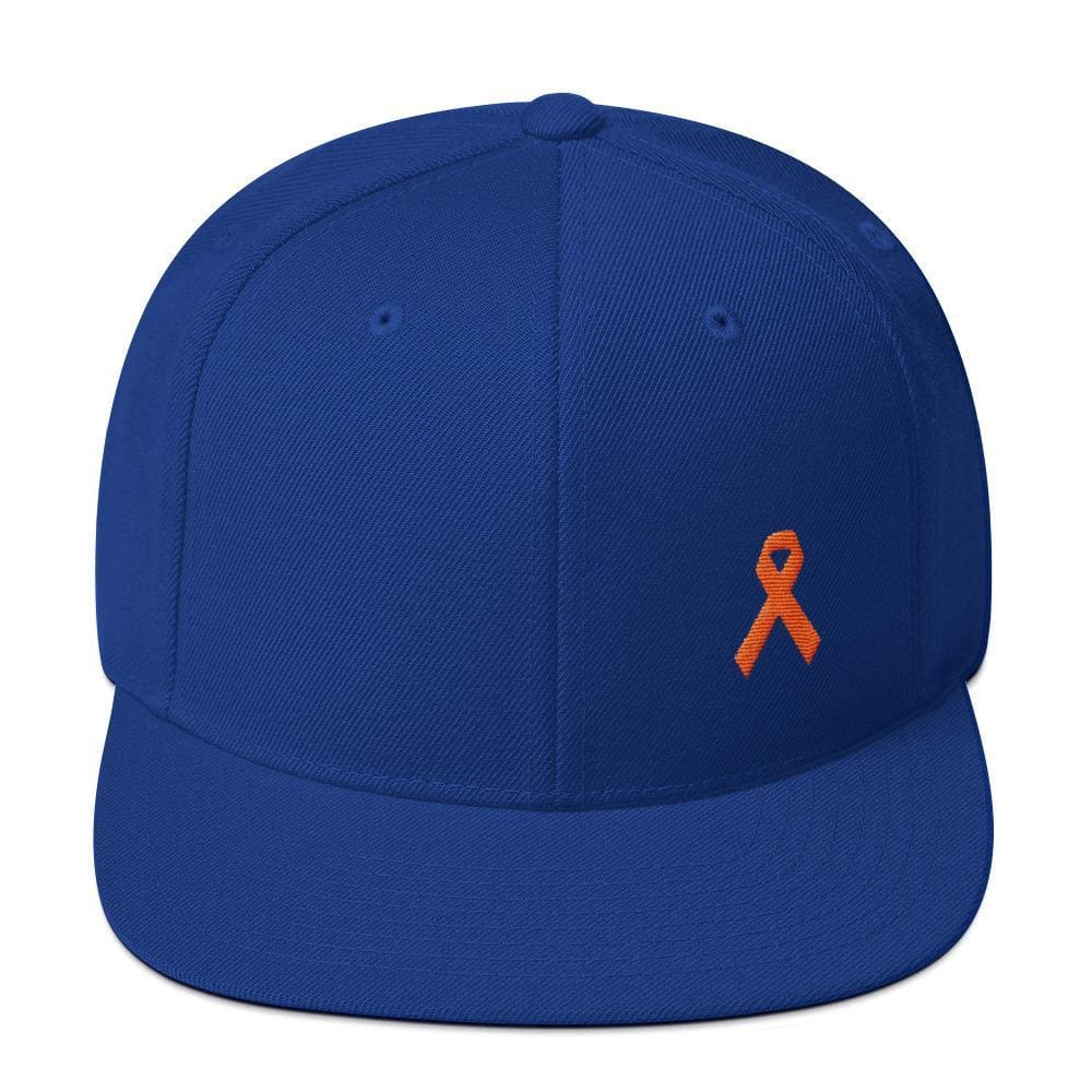 MS Awareness Flat Brim Snapback Hat - One-size / Royal Blue - Hats