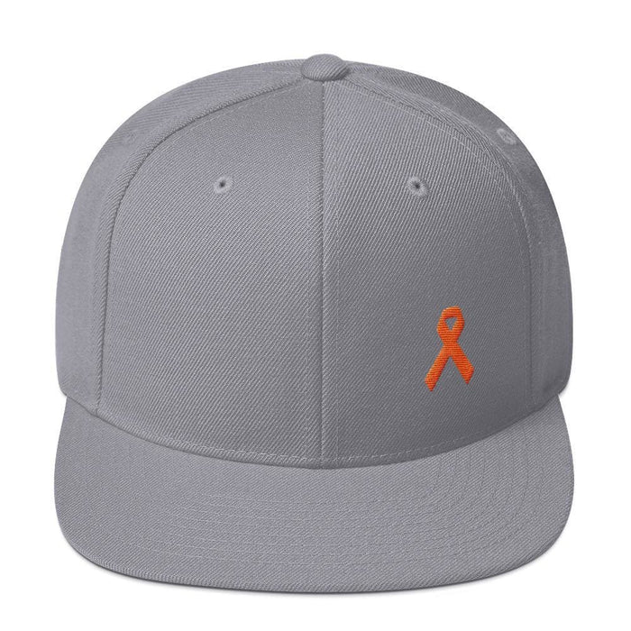 MS Awareness Flat Brim Snapback Hat - One-size / Silver - Hats