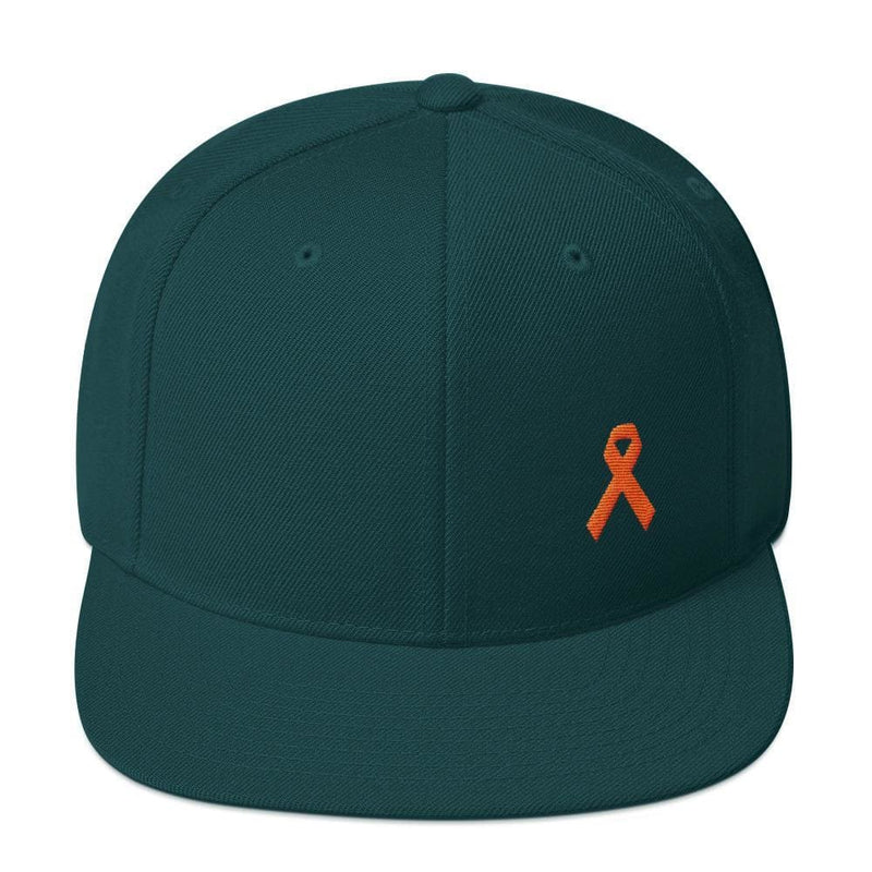 MS Awareness Flat Brim Snapback Hat - One-size / Spruce - Hats