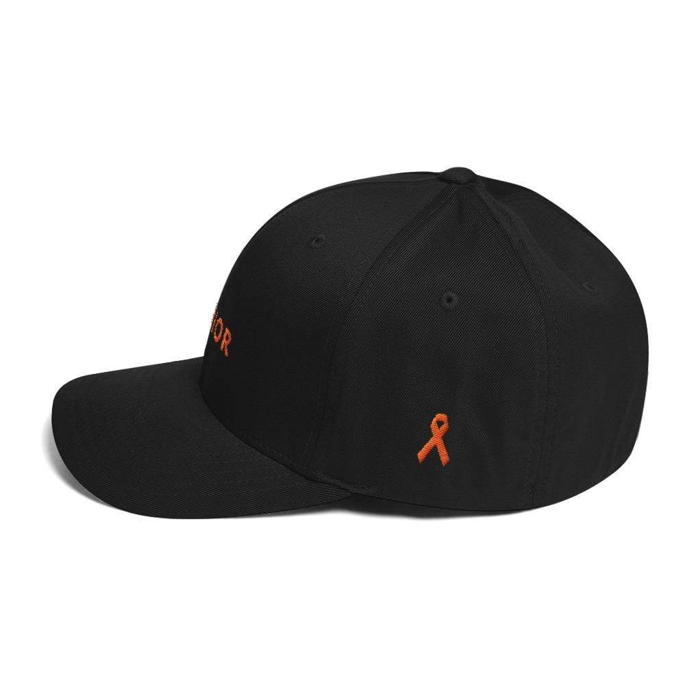 Ms Awareness Hat With Warrior & Orange Ribbon On The Side - Hats