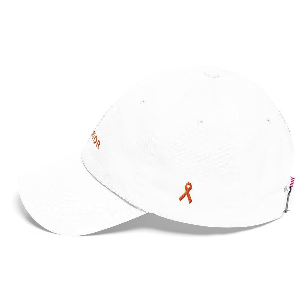 MS Awareness Warrior Hat with Orange Ribbon on the Side - Hats