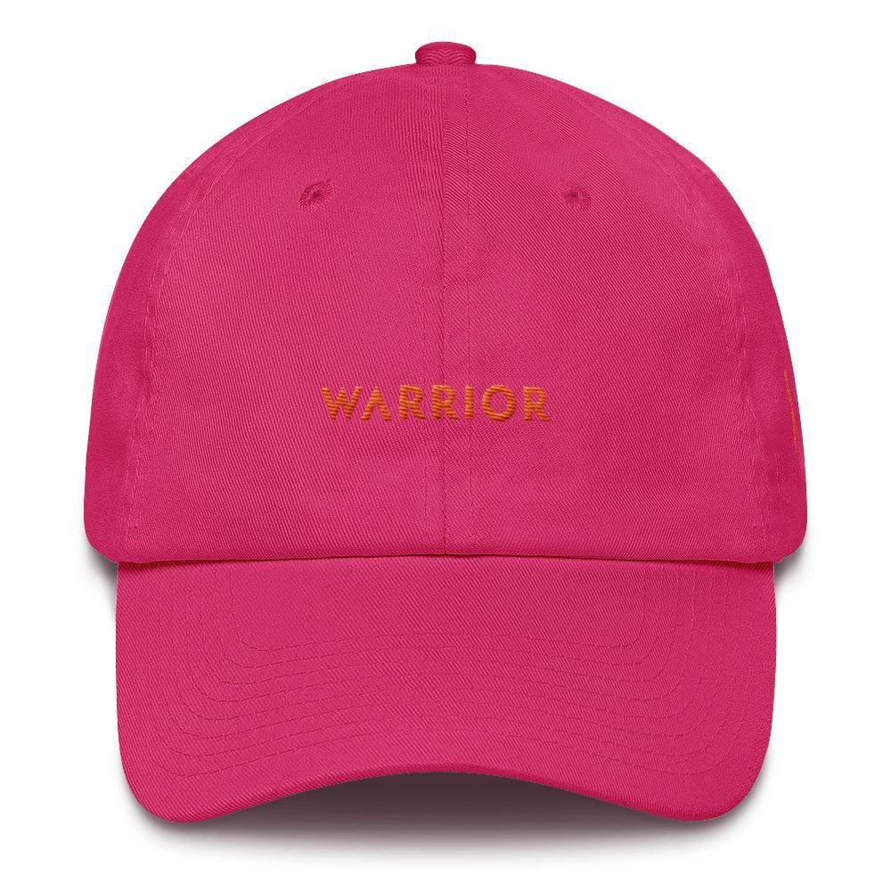 MS Awareness Warrior Hat with Orange Ribbon on the Side - One-size / Bright Pink - Hats