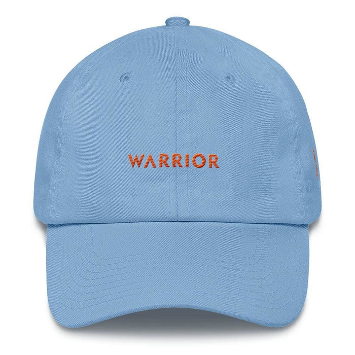MS Awareness Warrior Hat with Orange Ribbon on the Side - One-size / Carolina Blue - Hats