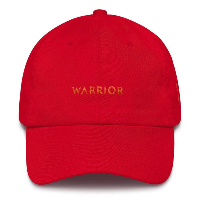 MS Awareness Warrior Hat with Orange Ribbon on the Side - One-size / Red - Hats