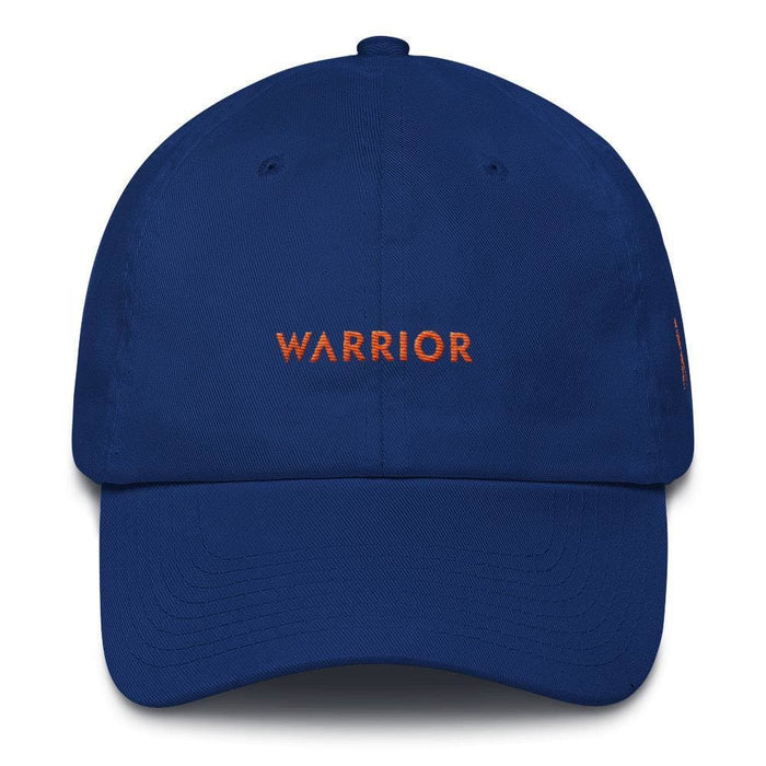 MS Awareness Warrior Hat with Orange Ribbon on the Side - One-size / Royal Blue - Hats