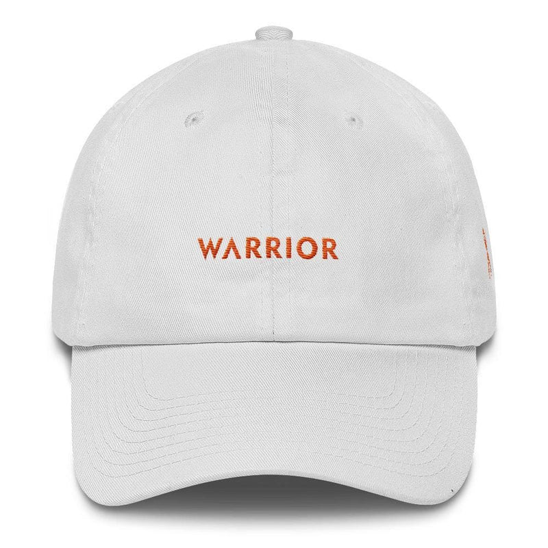 MS Awareness Warrior Hat with Orange Ribbon on the Side - One-size / White - Hats