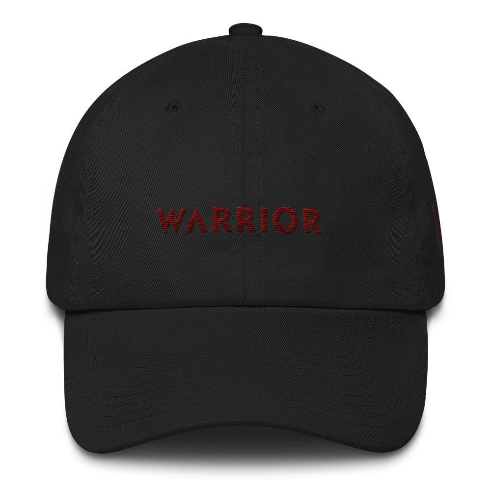 Multiple Myeloma Awareness Dad Hat with Warrior & Burgundy Ribbon - One-size / Black - Hats