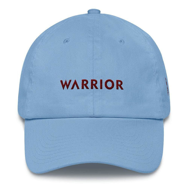 Multiple Myeloma Awareness Dad Hat with Warrior & Burgundy Ribbon