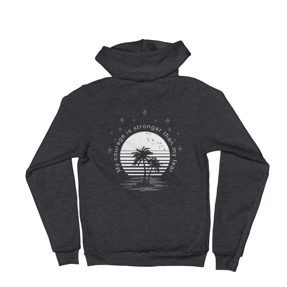 Load image into Gallery viewer, My Courage is Stronger Than My Fear Hoodie Sweatshirt - S / Dark Heather Grey - Sweatshirts