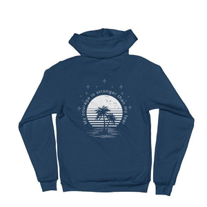 Load image into Gallery viewer, My Courage is Stronger Than My Fear Hoodie Sweatshirt - S / Sea Blue - Sweatshirts