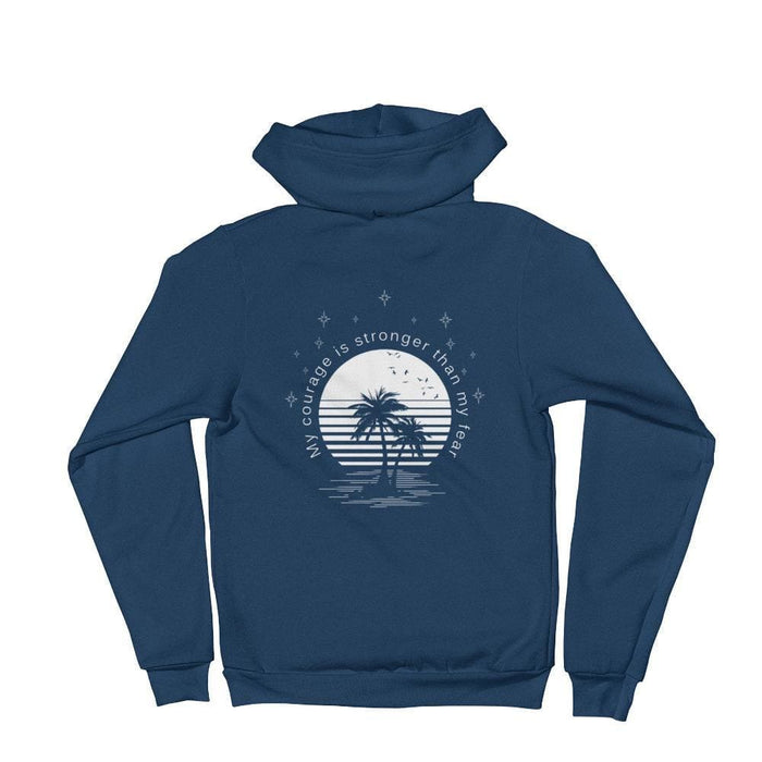 My Courage is Stronger Than My Fear Hoodie Sweatshirt - S / Sea Blue - Sweatshirts