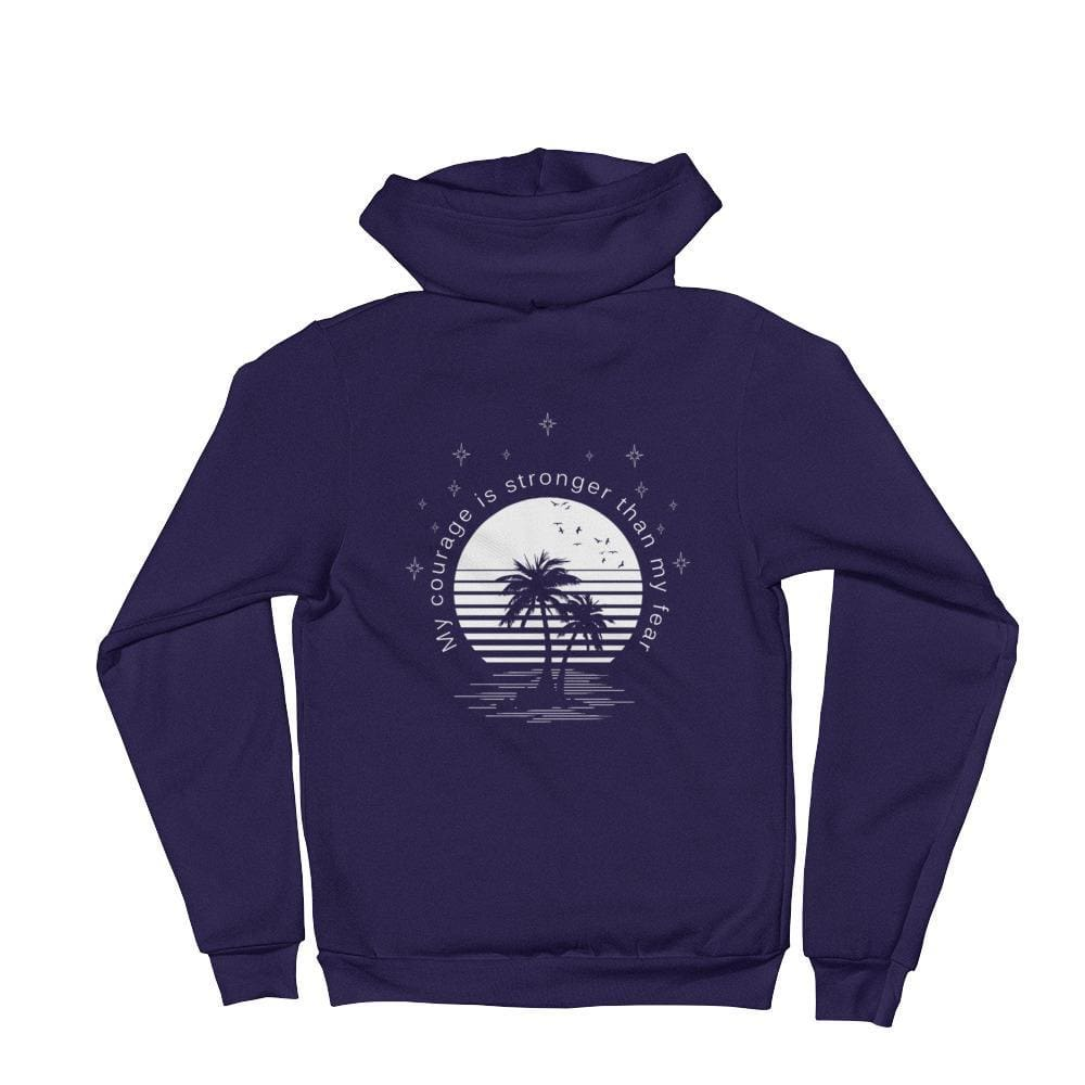 Load image into Gallery viewer, My Courage is Stronger Than My Fear Hoodie Sweatshirt - XS / Navy - Sweatshirts
