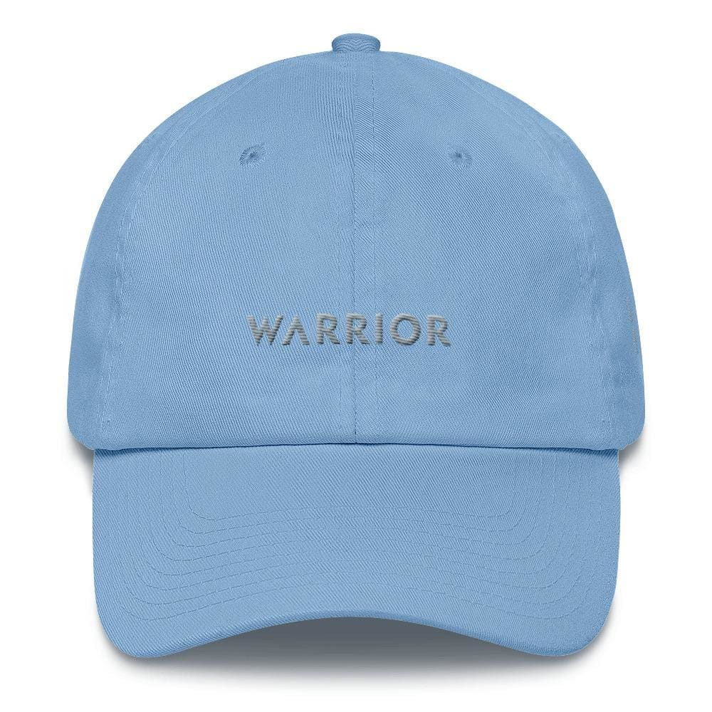Parkinsons Awareness and Brain Tumor Awareness Dad Hat with Warrior & Grey Ribbon - One-size / Carolina Blue - Hats