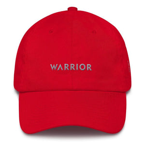 Parkinsons Awareness and Brain Tumor Awareness Dad Hat with Warrior & Grey Ribbon - One-size / Red - Hats