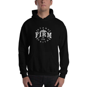 Stand Firm in the Faith Hoodie Sweatshirt - S / Black - Sweatshirts