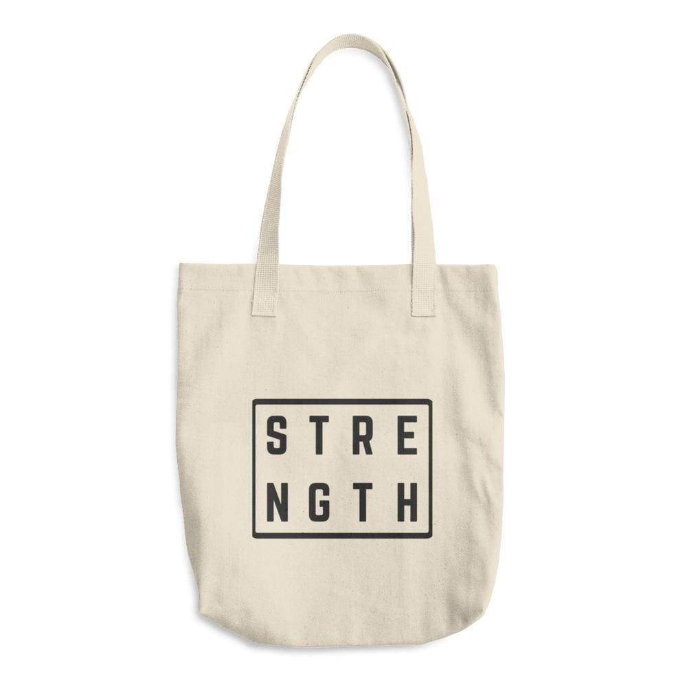Strength Cotton Tote Bag (Made In The Usa) - One-Size / Natural - Totes