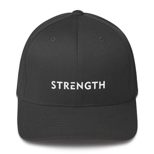 Strength Fitted Twill Flexfit Baseball Hat - S/m / Dark Grey - Hats